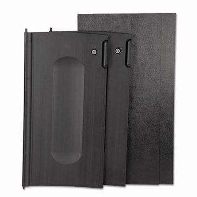 Rubbermaid 9T85 Locking Cabinet Door Kit For Cleaning Carts, Black (RCP9T85BLA)