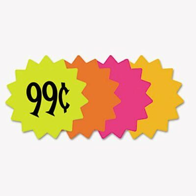 "Cosco Die Cut Paper Signs, 4"" Round, Assorted Colors, 60 Signs (COS090249)"