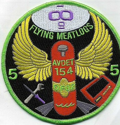 "USCG Coast Guard Patch - AVDET-154  ""Flying Meatlogs"" (5"" round) (fire)"