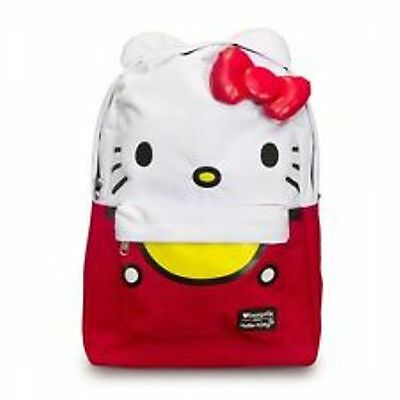 NWT Loungefly Hello Kitty Large Face Backpack With Ears & 3D Bow