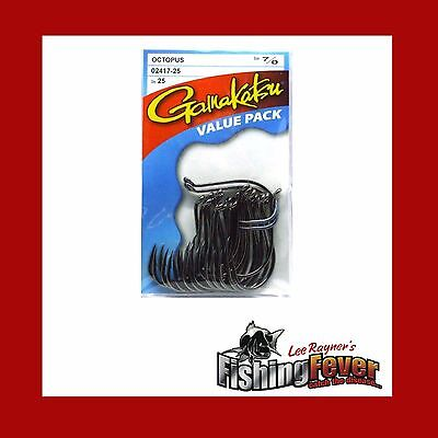 Gamakatsu Octopus Hook #1 - #8/0 Fishing Hooks 25 Pack at Fishing Fever