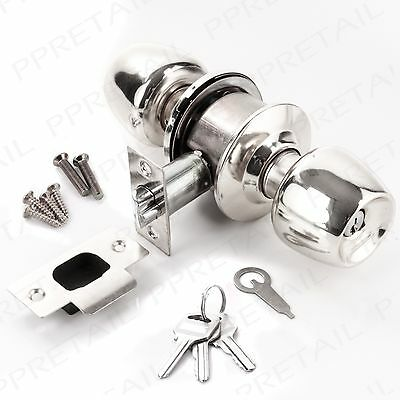 ENTRANCE DOOR KNOB SET WITH THUMBTURN & KEY LOCK Front/Main Room Pull Handle