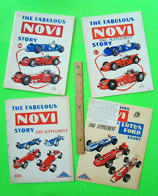 1963 THE FABULOUS NOVI STORY Compl 4-Vol Set RARE 1st PRINTINGS Novi Indy Racing