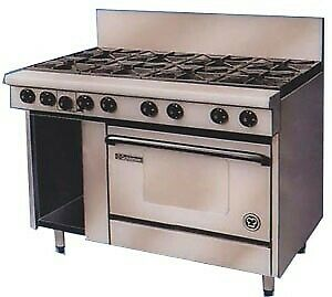 Goldstein Ranges - Gas 8 Burner With Static Electric Ovens (Natural Convection)