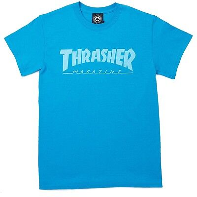 Thrasher Magazine - T Shirt Sapphire/teal - S M L Xl - Skate  New Real Tee