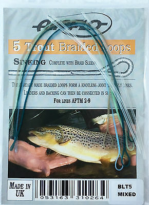 Airflo 5 Trout Braided Sinking Loops complete with Braid Sleeve Size 2-9 Lines