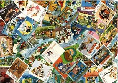 Disney Stamp Collection - 100 Different Stamps