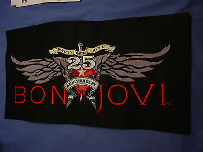 Rock N Roll, Bon Jovi  25Th Anniversary  Embroidery Sample