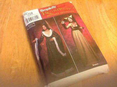 Renaissance Costume Collection Simplicity Pattern 9058 Size 6 To 12 HH