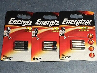 6  Energizer A23 12V mn21 Alkaline Batteries remote 23ae lrv08 23a SAME DAY SHIP