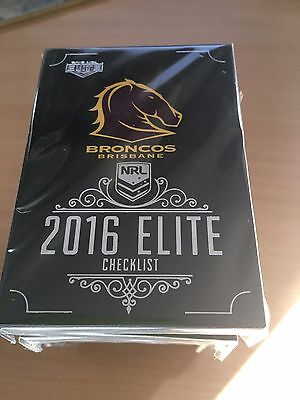 2016 NRL ESP Elite FULL SET of Common Cards (192 Total)