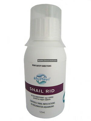 Blue Planet Snail Rid 125ml freshwater aquarium control treat killer fish tank
