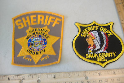 ~Milwaukee County & Sauk County~Wisconsin Sheriff Patches~