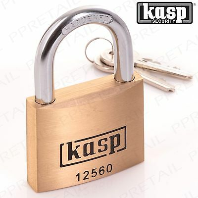 KASP RATED 10 PREMIUM PADLOCK Large 60mm SOLID BRASS Lock 125 Series K12560D