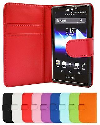Pu Leather Wallet Case Cover For Sony Xperia Mobile Phones