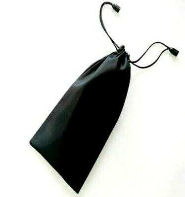 Soft Black Pouch Bag for Glasses Sunglasses Mobile Phone Cleaning Cloth Dust UK
