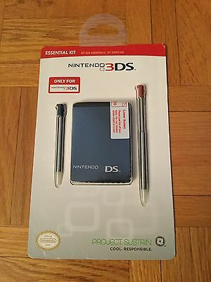 Official Nintendo Essential Kit for Nintendo 3DS (Pen, Screen Protector, Cloth)