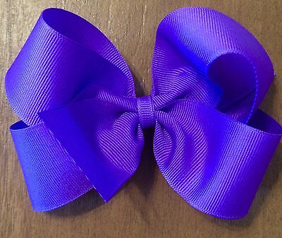 """LOT OF 8 Girl's 5 Inch HAIRBOWS Hair Bows  - Choose Your Colors 5"""" Hair Bows"""