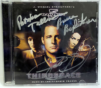 Babylon 5 :  Thirdspace Cd Signed By Pat Tallman & Claudia Christian