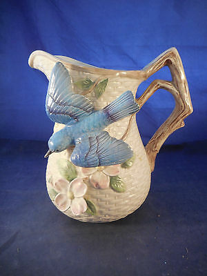 "Fitz And Floyd 1990 1 1/2"" Qt. Blue Bird Pitcher"