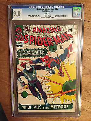 Amazing Spider-Man   #36  Cgc  9.0  White Pages  (1St Looter)