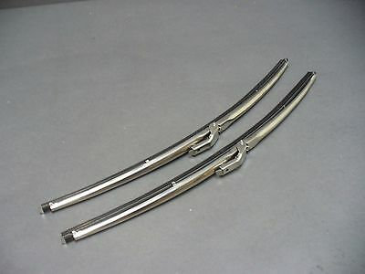"Ford wiper blades 16"" polished stainless Falcon Fairlane Torino Ranchero Galaxie"