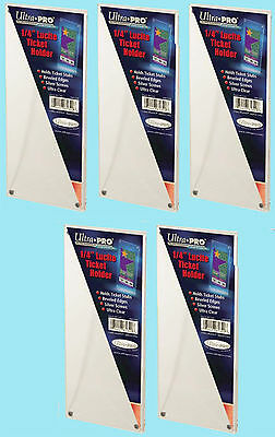 """5 Ultra Pro 1/4"""" LUCITE TICKET HOLDERS NEW Currency Stub Display Case Holder"""