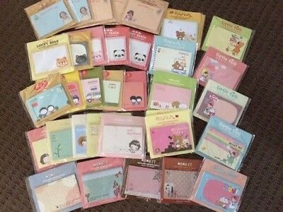 "x2 Cute & Lovely Sticky Memo/ Sticker/ Post it Notes/ Pad ""Random Design"""