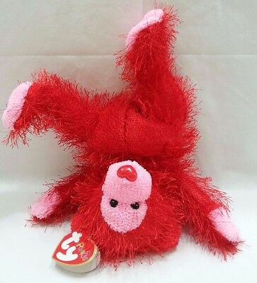 The Punkies Collection Flame 2003 Retired Red Bear Stuffed Plush Animal Ty Toy