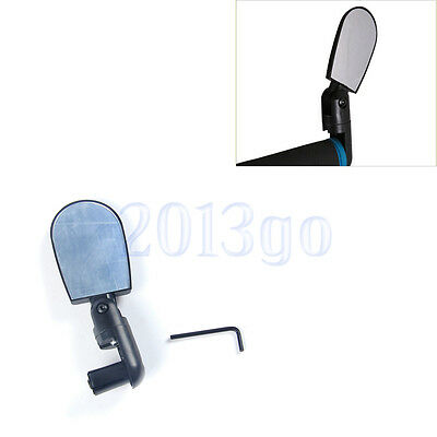 Noir Mini Rotation Flexible Bicyclette Vélo Cyclisme Rearview Guidon Mirror HG