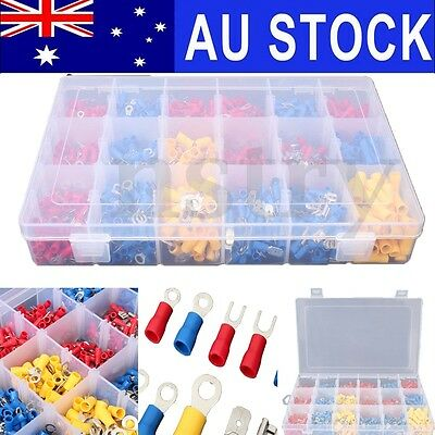 AU 1200Pcs Assorted Electrical Wire Connector Insulated Crimp Terminals Spade