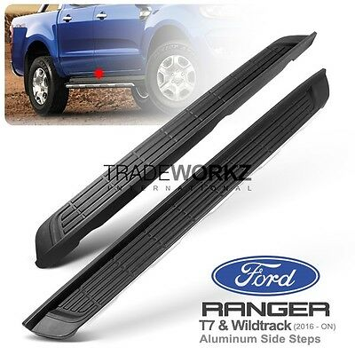 Complete Set FORD Ranger T7 PX 2016 Wildtrak Aluminum Running Boards Side Steps