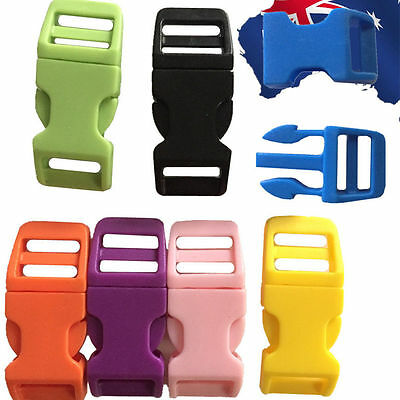 20pcs 11mm Plastic Quick Release Buckle Clip Backpack Bag Sewing Webbing CKBUT59