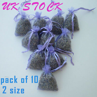UK 10 Lavender Bags Aromatic, Moth Repellent, Calming, Sleep Aid,Cello Wrapped