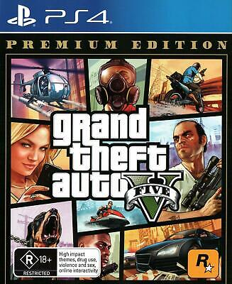 Grand Theft Auto 5 V AUSTRALIAN VERSION (PS4) BRAND NEW *Fast Post* CHEAPEST
