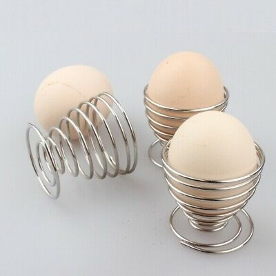 Stainless Steel Spring Wire Boiled Egg Holder Tray Lovely Storage Stand Cup