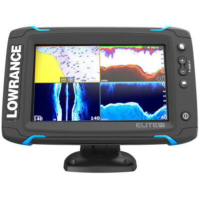 Lowrance 000-12721-001 Elite-7 Ti Touch NAV Plus TotalScan Transducer w/US Chart