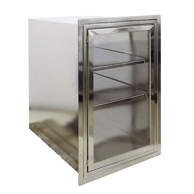 "Stainless Steel Pass-Through Storage Cabinet; 25-1/2"" W x 39-1/2"" T x 36"" D"