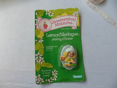 Strawberry Shortcake Vintage Miniatures Lemon Meringue Kenner In 1982