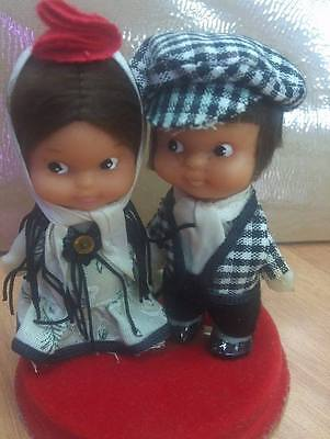 Handsome Pair Of Dolls In Spanish Costume Collectibles Antique