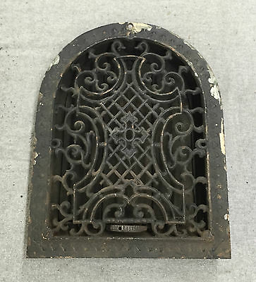 Antique Cast Iron Arch Top Decorative Dome Heat Grate Wall Register 9x12 1359-16
