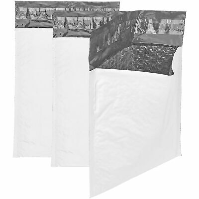 "50 6""x9"" Poly Bubble Mailers Self Sealing Padded White CD Envelopes 6x10"