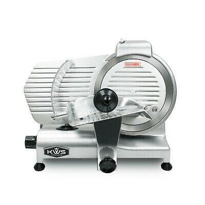 "KWS Premium Commercial 320W Electric Meat Slicer 10"" with Stainless Blade"