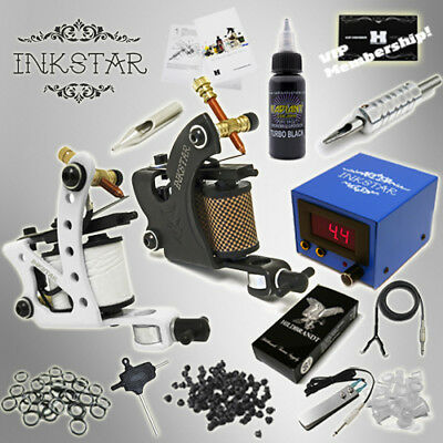 Complete Tattoo Kit Inkstar 2 Machine MAKER Set GUN Professional Black Ink