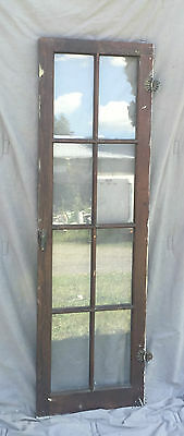 Antique 8 Lite Casement Cupboard Window Cabinet Bookcase Shabby Vtg Old 1366-16