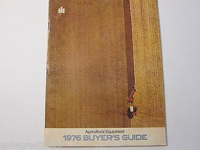 1976 International Equipment Tractor Buyers Guide Brochure Catalog More Listed