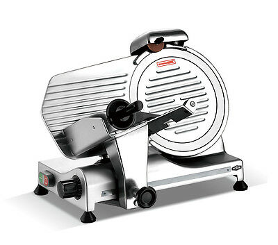"KWS Commercial 320w Electric Meat Slicer 10"" Triple Safety Locks + Anodized Body"