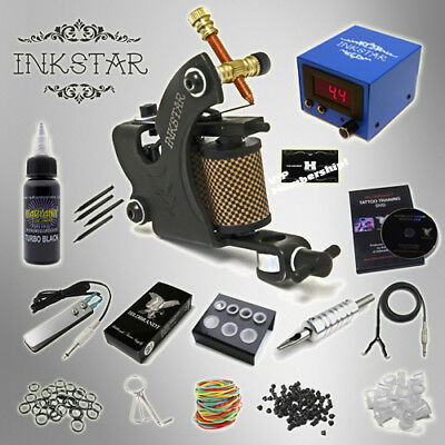 Complete Tattoo Kit Professional Inkstar 1 Machine VENTURE Set GUN Black Pro Ink