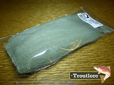 Gray Olive Extra Select Craft Fur Hareline Dubbin - New Fly Tying Materials Hair