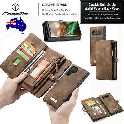 For Samsung Galaxy S10 5G A50 A20 S7 Leather Removable Wallet Magnetic Flip Case